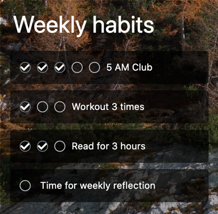 Creating good habits can help aid your goal setting technique